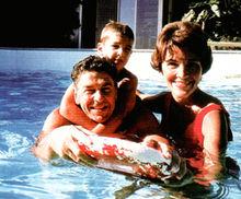 里根与妻子和儿子