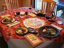 犹太人过逾越节时的传统家宴